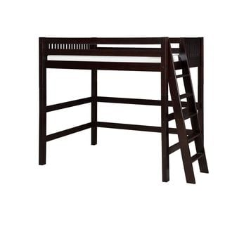 Camaflexi Twin-size Cappuccino Finish High Loft Bed with Mission Headboard