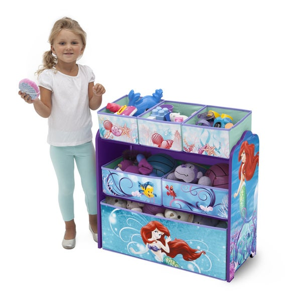 Delta Children Little Mermaid Multi-bin Organizer