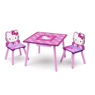 Hello Kitty Table & Chairs Set with Storage by Delta Children