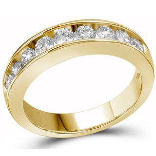 14k Yellow Gold 1ct TDW Diamond Wedding Band (G-H, I1-I2)