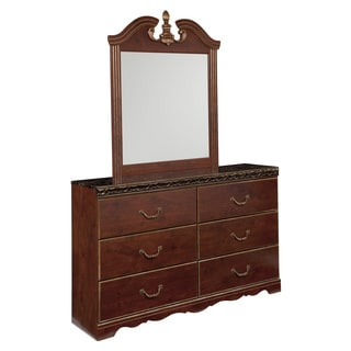 Signature Design by Ashley Naralyn Reddish Brown Dresser-mirror Combination