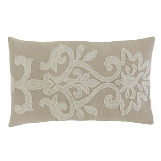 Signature Design by Ashley Embroidered Beige Pillow