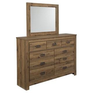 Signature Design by Ashley Cinrey Medium Brown Dresser-mirror Combination