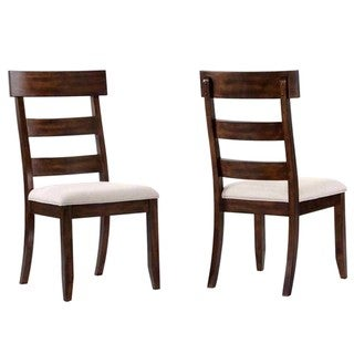 Dolson Bold Block Design Distressed Rustic Dining Chairs (Set of 2)