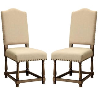 Dankona French Antique Dining Chairs with Nailhead Trim (Set of 2)