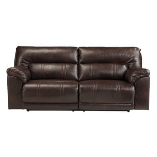 Signature Design by Ashley Barrettsville Durablend Chocolate 2-Seat Reclining Sofa