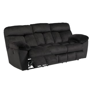 Signature Design by Ashley Saul Black Reclining Sofa
