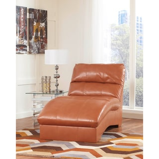 Signature design by ashley lochian bisque chaise for Bella berry chaise