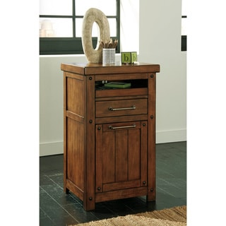 Signature Design by Ashley Shayneville Rustic Brown Home Office Counter File Desk