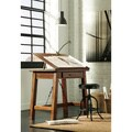 Signature Design by Ashley Shayneville Rustic Brown Counter Height Drafting Desk