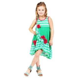 Jelly The Pug Girl's Summer Garden Dakota Dress