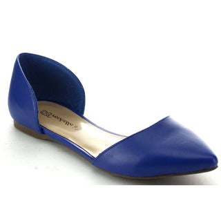Breckelle's Women's Dolley-42 Pointed Toe Classic D'Orsay Flats