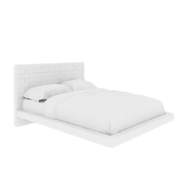 Zack Collection White Eco-Leather King Bed by Casabianca Home