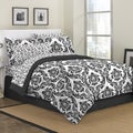 Marcheline Damask 8-piece Bed in a Bag with Sheet Set