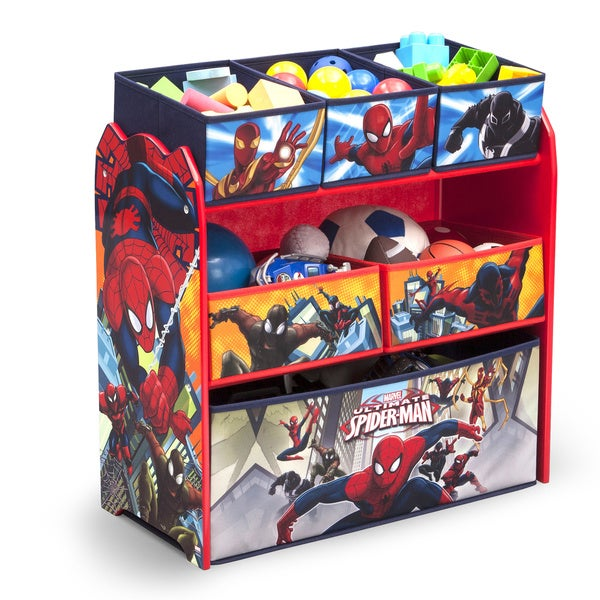 Spider-Man Multi-Bin Toy Organizer by Delta Children