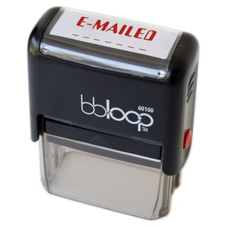 Rectangular 'EMAILED' Stamp