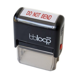 Rectangular 'DO NOT BEND' Stamp