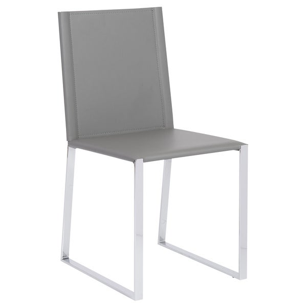 Cora Grey and Chrome Side Chair (Set of 2)