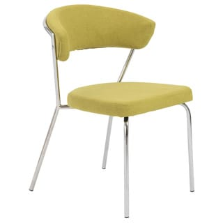 Draco Green and Chrome Side Chair (Set of 4)