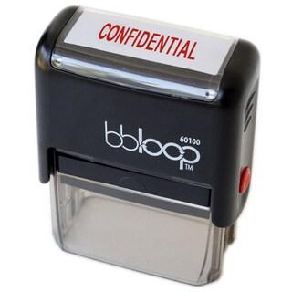 Rectangular Red 'Confidential' Stamp