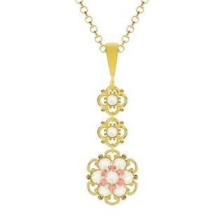 Lucia Costin Silver White Crystal Pendant