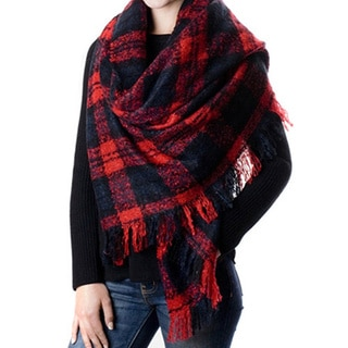 Plaid Checked Scarf Wrap