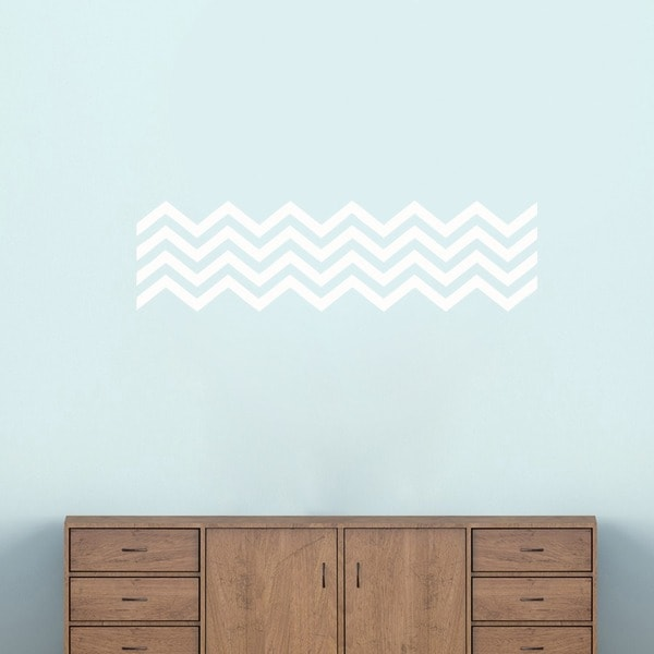 Chevron Stripes Wall Decals (38 x 10)