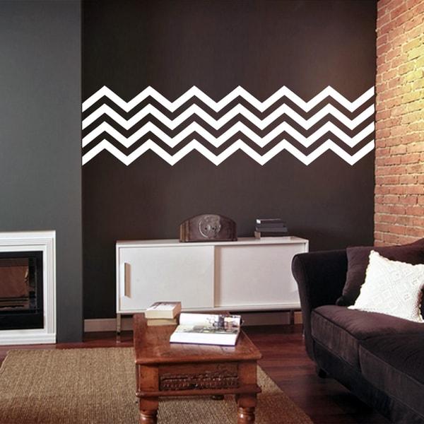 Chevron Stripes Wall Decals (38 x 10)