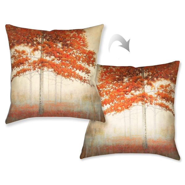Decorative Outdoor Fall Pillows : Laural Home Amber Fall Foliage Decorative 18-inch Throw Pillow - 17792207 - Overstock.com ...
