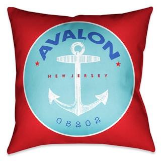 Laural Home Avalon Beach II Decorative Pillow