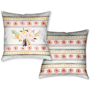 Laural Home Bohemian Flowers Decorative 18 Inch Throw Pillow