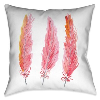 Laural Home Boho Feathers Decorative 18-inch Throw Pillow