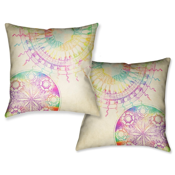 Laural Home Coastal Sun Patterns Decorative 18-inch Throw Pillow