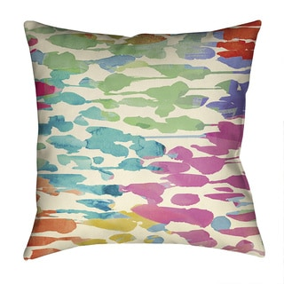 Laural Home Colorful Splashes Decorative 18-inch Throw Pillow