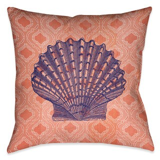 Laural Home Coral Shell Decorative 18-inch Throw Pillow