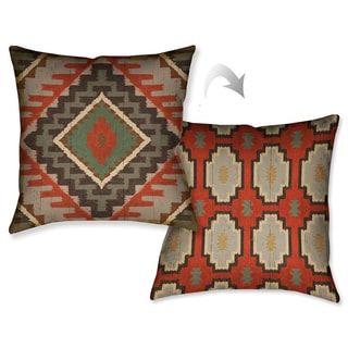 Laural Home Country Pattern I Decorative 18-inch Throw Pillow