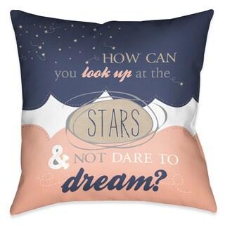 Laural Home Dream Stars Decorative 18-inch Throw Pillow