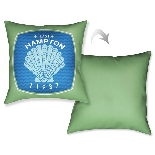Laural Home East Hampton Beach Decorative 18-inch Throw Pillow