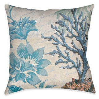 Laural Home Florals and Coral Decorative 18-inch Throw Pillow