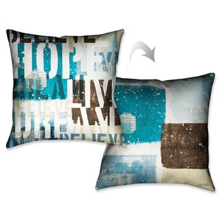 Laural Home Live and Love II Decorative 18-inch Throw Pillow