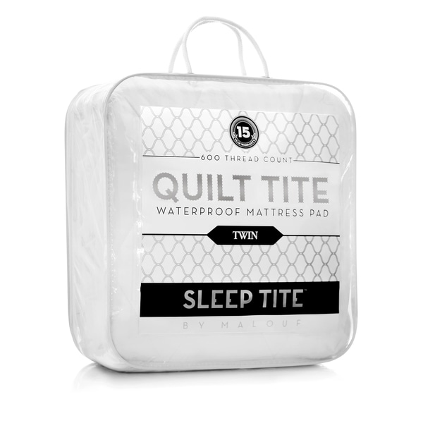 Sleep Tite Quilt 600 TC 100-percent Cotton Mattress Pad Waterproof Quilted Mattress Pad
