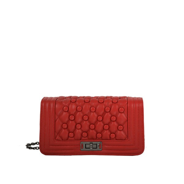 Mellow World Anastasia Red Quilted Crossbody Clutch
