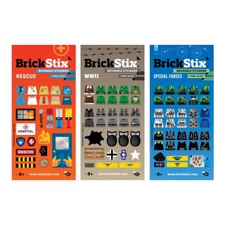 BrickStix My Action Building Block Sticker Set