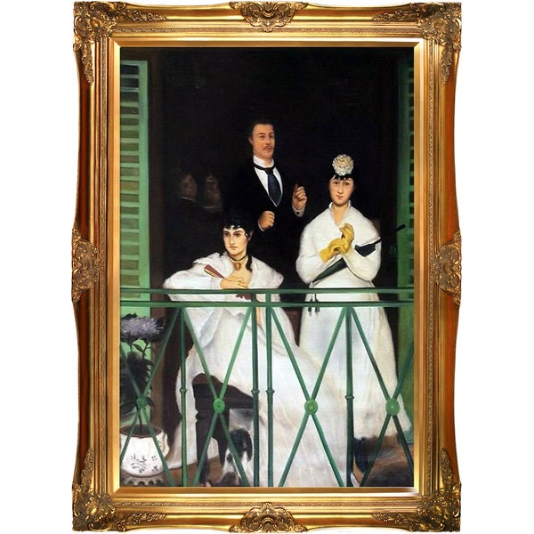Edouard Manet 'The Balcony' Hand Painted Framed Canvas Art