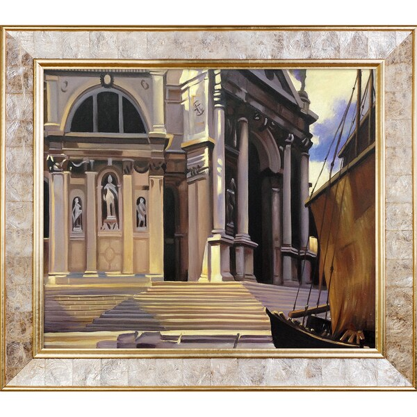 John Singer Sargent 'Santa Maria della Salute' Hand Painted Framed Canvas Art