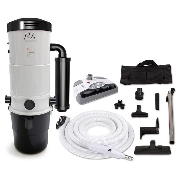 Prolux CV12000 Central Vacuum Unit System with Electric Hose Power Nozzle Kit 16560687