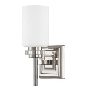 Austin Allen & Company Transitional 1-light Polished Nickel Wall Sconce