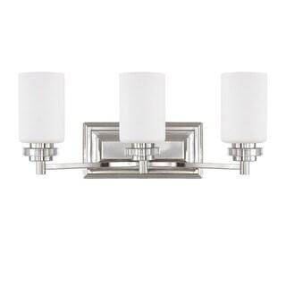 Austin Allen & Company Transitional 3-light Polished Nickel Bath/ Vanity Light