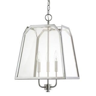 Austin Allen & Company Transitional 3-light Polished Nickel Foyer Pendant