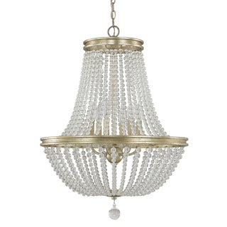 Austin Allen & Company Handley Collection 6-light Iced Gold Chandelier